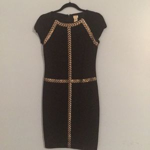 Women's Cache Black Dress with Gunmetal Accents